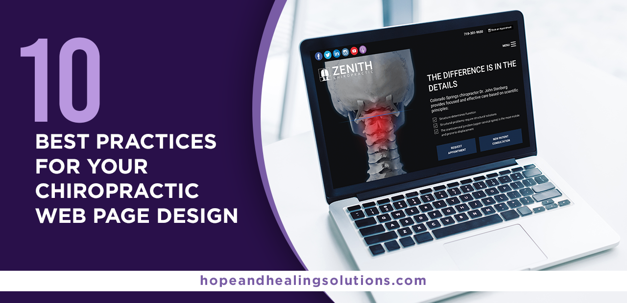 chiropractic web page design